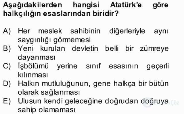 Atatürk İlkeleri ve İnkılap Tarihi II Bütünleme 7. Soru
