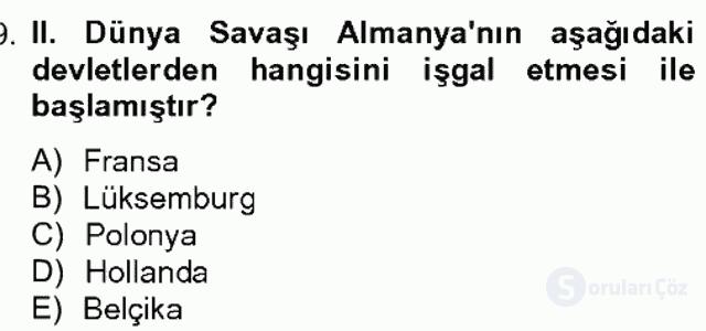 Uygarlık Tarihi II Bahar Dönemi Final Final 19. Soru