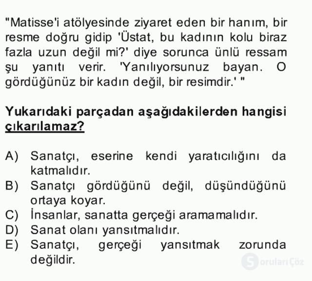 Türk Dili II Bütünleme 1. Soru