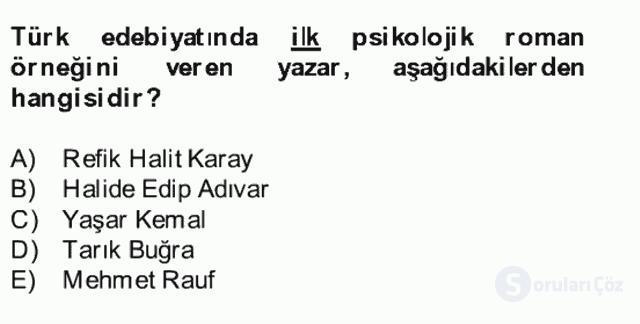 Türk Dili II Bütünleme 10. Soru