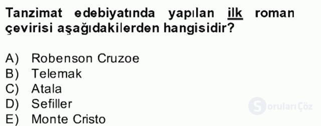 Türk Dili II Bütünleme 13. Soru