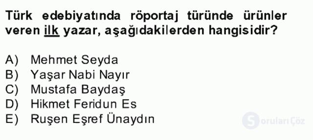 Türk Dili II Bütünleme 14. Soru