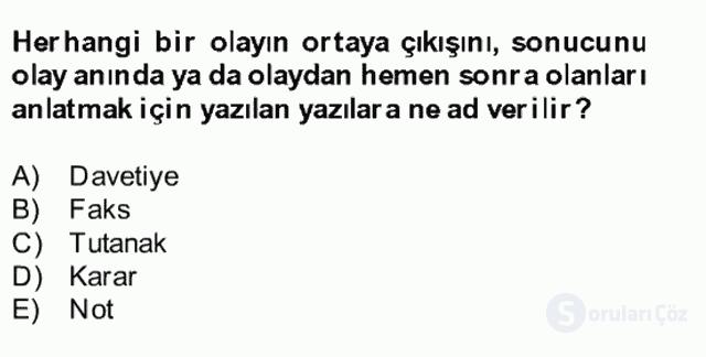 Türk Dili II Bütünleme 15. Soru
