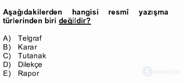 Türk Dili II Bütünleme 16. Soru