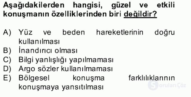 Türk Dili II Bütünleme 19. Soru