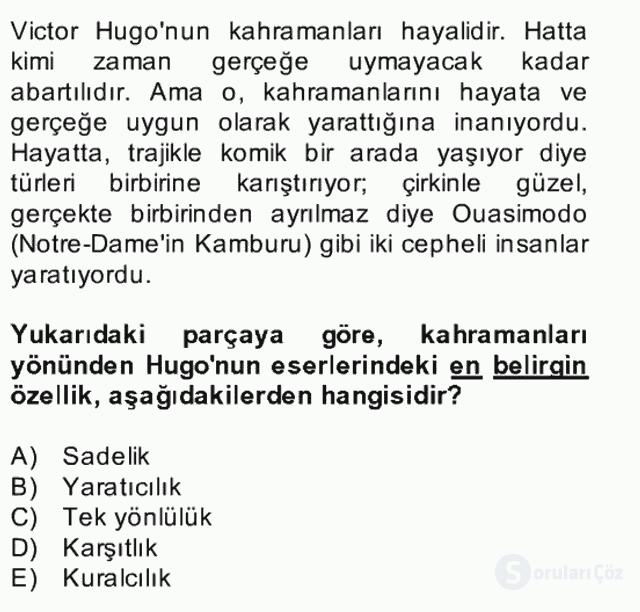 Türk Dili II Bütünleme 2. Soru
