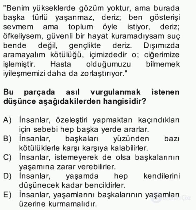 Türk Dili II Bütünleme 3. Soru