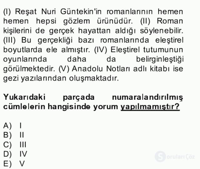 Türk Dili II Bütünleme 4. Soru