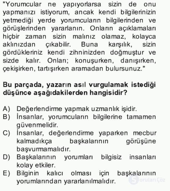 Türk Dili II Bütünleme 5. Soru
