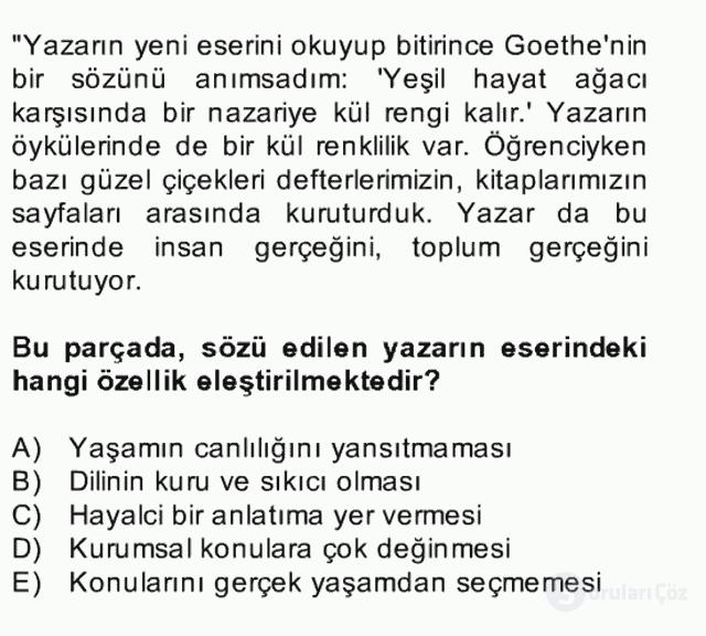 Türk Dili II Bütünleme 6. Soru