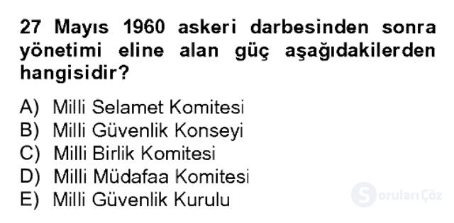 Atatürk İlkeleri ve İnkılap Tarihi II Bahar Dönemi Final 16. Soru