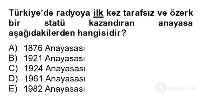 Atatürk İlkeleri ve İnkılap Tarihi II Bahar Dönemi Final 18. Soru