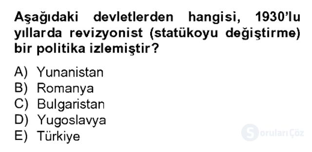 Atatürk İlkeleri ve İnkılap Tarihi II Bahar Dönemi Final 2. Soru