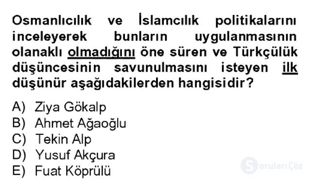 Atatürk İlkeleri ve İnkılap Tarihi II Bahar Dönemi Final 4. Soru