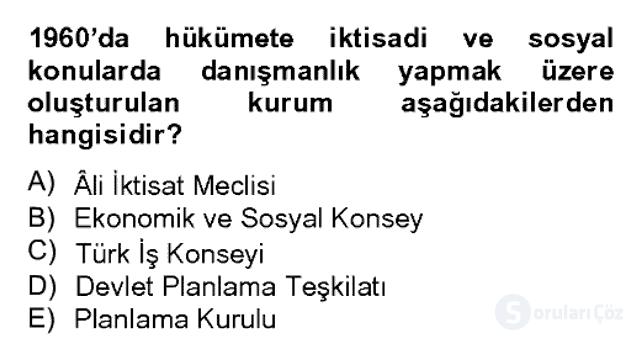 Atatürk İlkeleri ve İnkılap Tarihi II Bahar Dönemi Final 8. Soru
