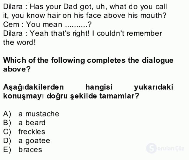 İngilizce II Bütünleme 27. Soru