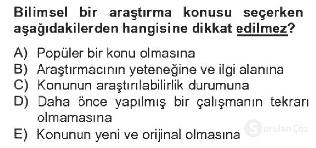 Türk Dili II Bahar Dönemi Final 12. Soru