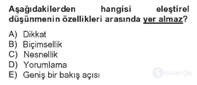 Türk Dili II Bahar Dönemi Final 14. Soru