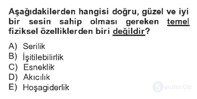 Türk Dili II Bahar Dönemi Final 18. Soru