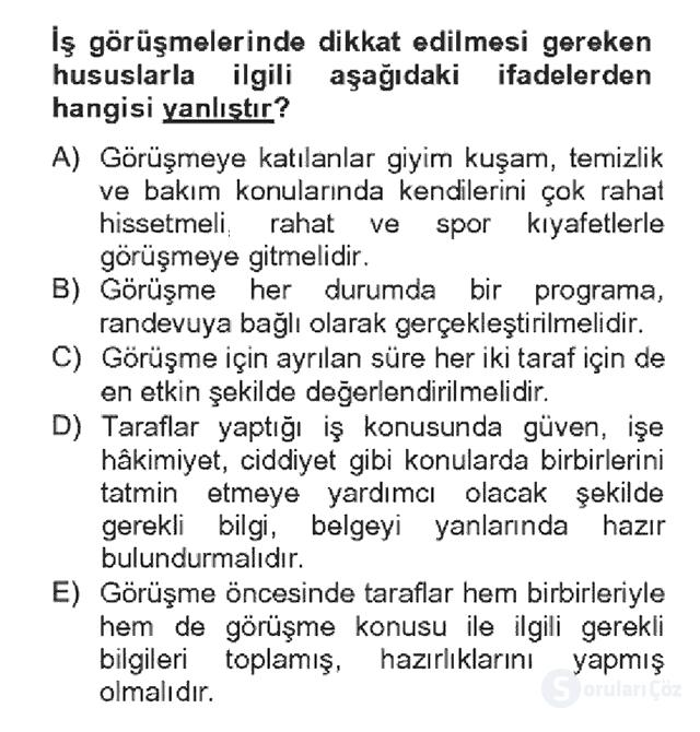 Türk Dili II Bahar Dönemi Final 20. Soru