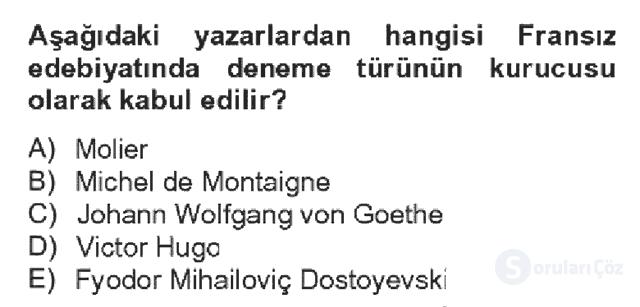 Türk Dili II Bahar Dönemi Final 7. Soru