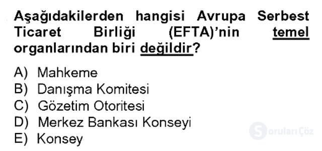 Uluslararası Örgütler Bahar Final 13. Soru