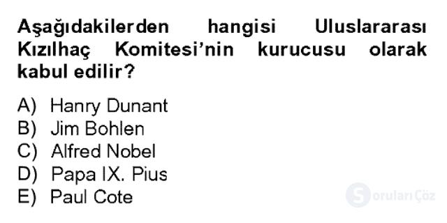 Uluslararası Örgütler Bahar Final 18. Soru
