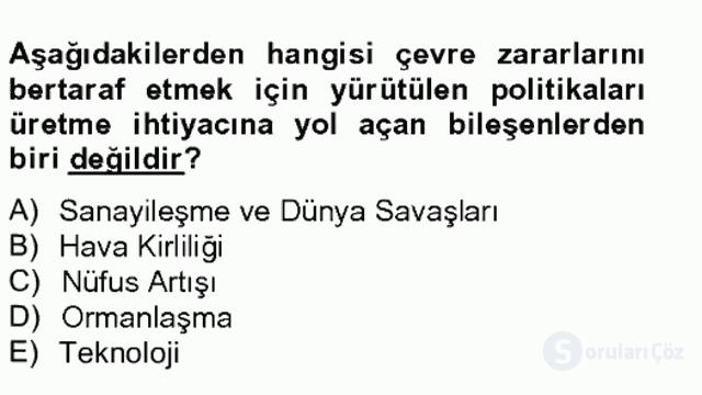 Sosyal Politika II Bahar Final 16. Soru