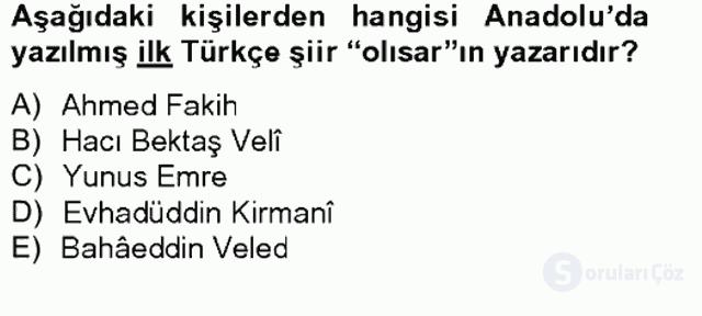 Ortaçağdan Günümüze Anadolu Uygarlıkları Tek Ders Sınavı 11. Soru