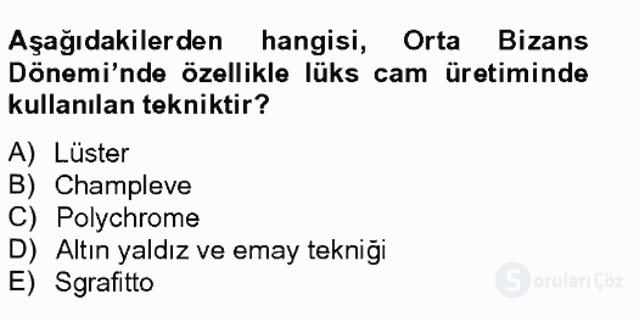 Ortaçağdan Günümüze Anadolu Uygarlıkları Tek Ders Sınavı 6. Soru