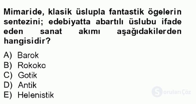 XVIII. Yüzyıl Türk Edebiyatı Tek Ders Sınavı 4. Soru