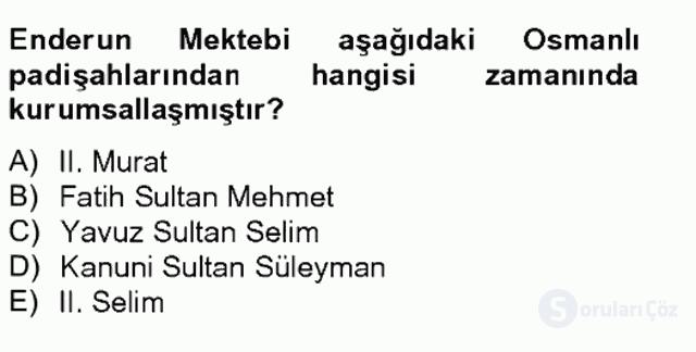 XIX. Yüzyıl Türk Edebiyatı Tek Ders Sınavı 5. Soru