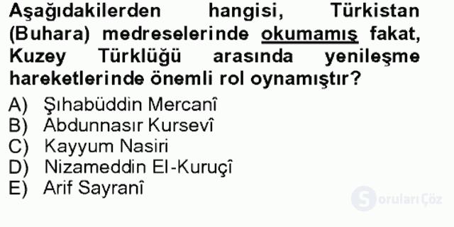 Çağdaş Türk Edebiyatları I Tek Ders Sınavı 14. Soru