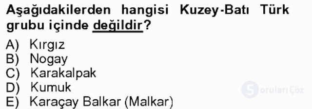 Çağdaş Türk Edebiyatları I Tek Ders Sınavı 15. Soru