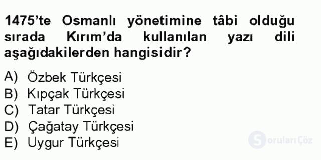 Çağdaş Türk Edebiyatları I Tek Ders Sınavı 6. Soru