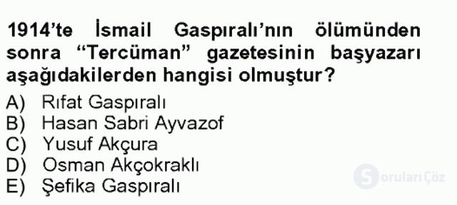Çağdaş Türk Edebiyatları I Tek Ders Sınavı 7. Soru