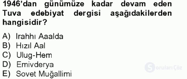 Çağdaş Türk Edebiyatları II Tek Ders Sınavı 19. Soru