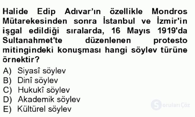 Cumhuriyet Dönemi Türk Nesri Tek Ders Sınavı 11. Soru