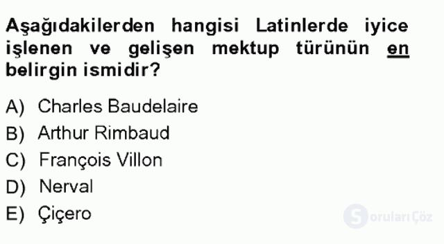 Cumhuriyet Dönemi Türk Nesri Tek Ders Sınavı 12. Soru