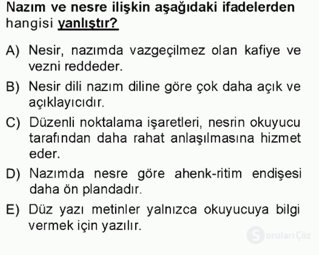Cumhuriyet Dönemi Türk Nesri Tek Ders Sınavı 15. Soru