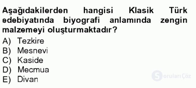 Cumhuriyet Dönemi Türk Nesri Tek Ders Sınavı 8. Soru