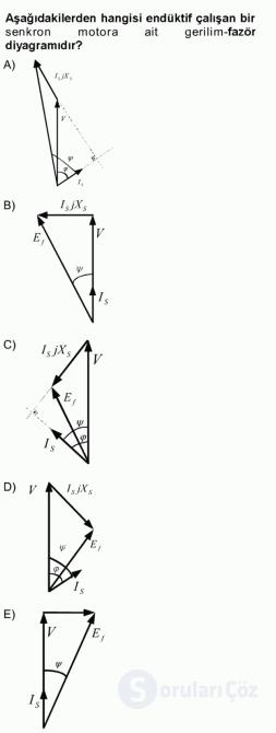 Elektrik Makinaları Tek Ders Sınavı 13. Soru