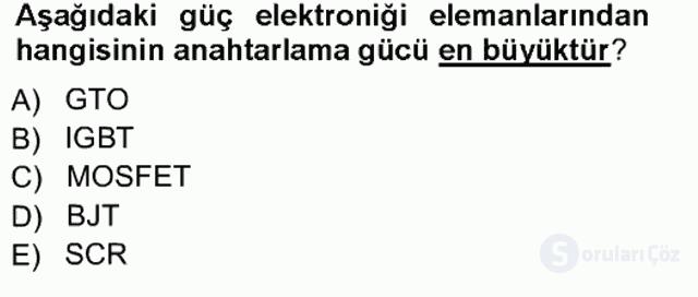 Elektrik Makinaları Tek Ders Sınavı 18. Soru