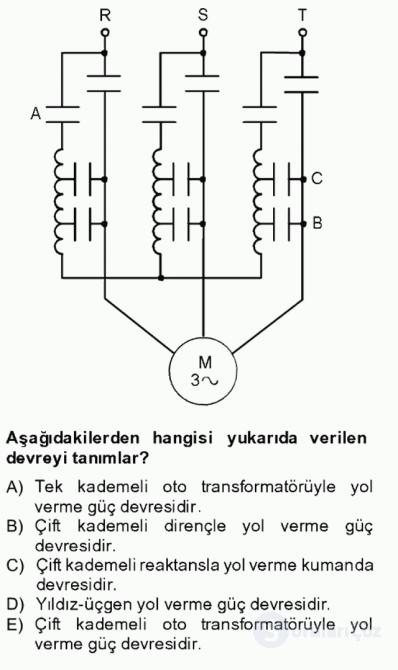 Elektromekanik Kumanda Sistemleri Tek Ders Sınavı 18. Soru