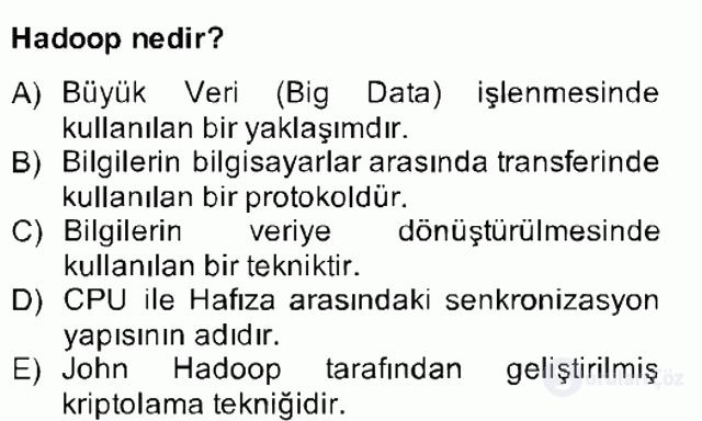 Temel Bilgi Teknolojileri II Bahar Final 15. Soru