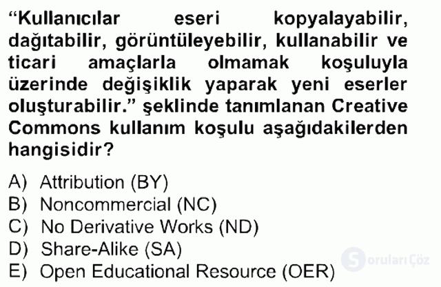Temel Bilgi Teknolojileri II Bahar Final 5. Soru