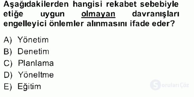 Gayrimenkul Yönetiminde Mesleki Etik Bahar Final 1. Soru