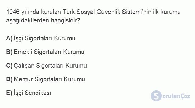 İKT402U 1. Ünite Türkiye Ekonomisinin Temel Özellikleri ve Dünya Ekonomisindeki Yeri Testi II 14. Soru