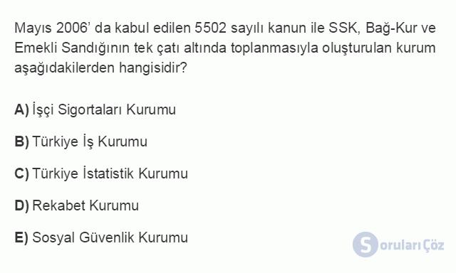 İKT402U 1. Ünite Türkiye Ekonomisinin Temel Özellikleri ve Dünya Ekonomisindeki Yeri Testi II 17. Soru