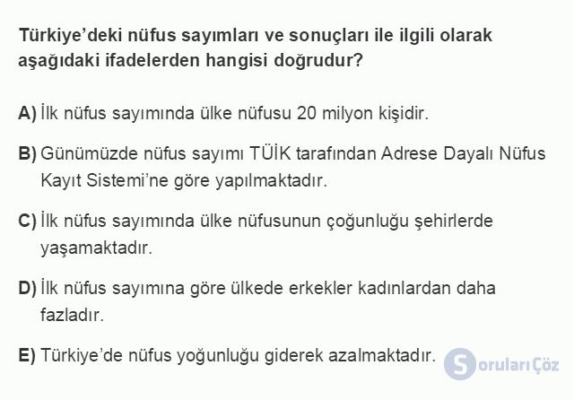 İKT402U 1. Ünite Türkiye Ekonomisinin Temel Özellikleri ve Dünya Ekonomisindeki Yeri Testi II 19. Soru